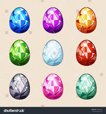 cartoon colorful crystal easter eggs vector stock vector 540391993