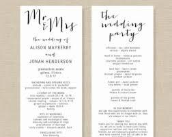 wedding programs diy templates wedding program template printable wedding program diy