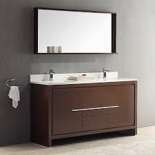Bathroom Vanities 60 by Shop Fresca Trieste Wenge Brown Undermount Double Sink Bathroom