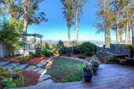 private backyard with bay views in sausalito 62 lincoln drive