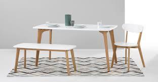 white dining table with bench fjord essgruppe mit 2 bänken eiche und weiß bench set bench and