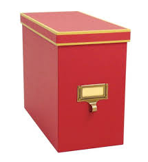 Cargo Atheneum File Storage Box Red in File Storage Boxes