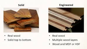 difference between hardwood and engineered wood floors