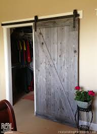 Used Closet Doors Rugged Z Brace Barn Door Featured With Classic Flat Track Hardware