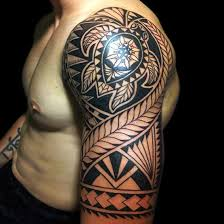 trible tattoos half sleeve design arms for picture images