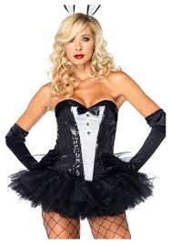 halloween corset sequin tuxedo corset