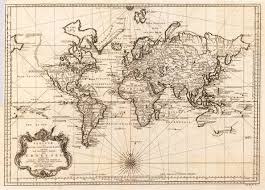 North America World Map by World Map From 1748 No Antarctica North America Unfinished