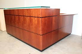 Used Custom Reception Desk Rhodes Office Furniture