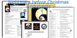 english teaching worksheets nightmare before christmas