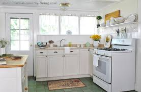 Take A Tour Of My Cottage Style Farmhouse Town  Country Living - Simple country kitchen