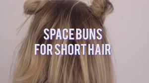 space buns for short hair 5 days of hair trudyjohanna youtube