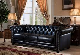 Chesterfield Sofa Living Room by Amax Nebraska Leather Chesterfield Sofa U0026 Reviews Wayfair