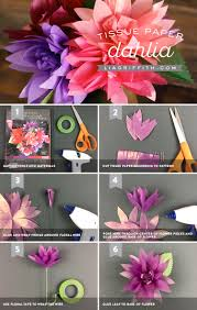 floral tissue paper tissue paper dahlias lia griffith