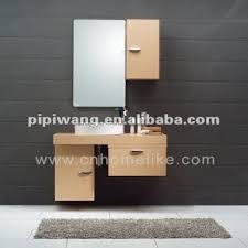 Wall Mounted Bathroom Vanity Cabinets by Modern 100 Cm Bamboo Wall Mounted Bathroom Vanity Cabinet Global