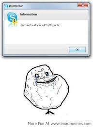 Forever Alone Guy Meme - skype trolling forever alone guy http lmaomemes com skype