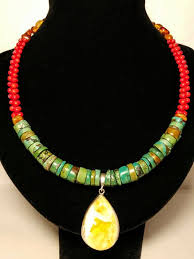 tibetan necklace images Necklace of natural tibetan turquoise red coral and baltic amber jpg