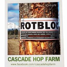 rotbloc being installed on a hop trellis system in oregon rotbloc