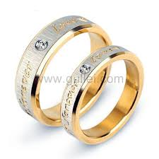 love promise rings images Engraved titanium forever love promise rings set for 2 jpg