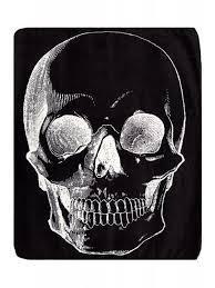 Sourpuss Shower Curtain Sourpuss Skull Blanket