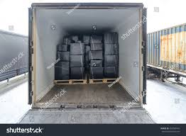 road freight trailer loaded boxes boxes stock photo 553790416