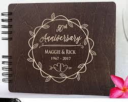 50th anniversary guest book personalized wedding anniversary guestbook personalized wooden guest book