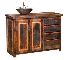 Rustic Bathroom Vanities And Sinks by Stunning Rustic Bath Vanity Design Offer Reclaimed Wooden