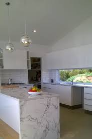 Carrara Marble Subway Tile Kitchen Backsplash by White Subway Tile With Black Grout Carrara Marble Diamond Gloss