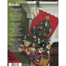 bucilla seasonal felt stocking kits under the tree 86303