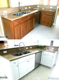 painting oak cabinets white before and after painting oak kitchen cabinets painted oak kitchen cabinets painting