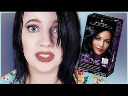 schwartzkopf sapphire black hair dye demo review youtube