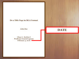Cover Page Template Google Docs by How To Do A Title Page In Mla Format With Examples Wikihow