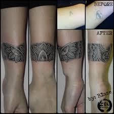 ornamental bracelet cover up tattoo by blazeovsky on deviantart