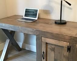 Custom Desk Design Ideas Desk Custom Desk X Legs Cupboard Rusticmeadows Industrial Design