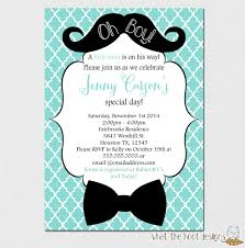 mustache and bow tie baby shower invitation oh boy invitation mustache baby
