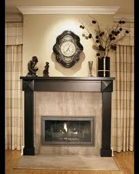 decorating the fireplace in the house protective glass wall clock