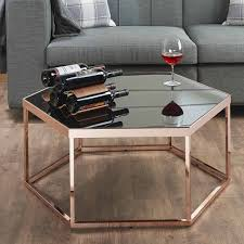 Black Glass Tables Hexagonal Black Glass Coffee Table Home Furniture Manufacturers