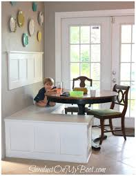 breakfast nook table with storage bench dining nook with storage