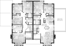 Twin Home Floor Plans Multi Family House Plans Triplex U0026 Twin Home Floor Plans Family