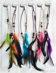 feather hair accessories leather fashion feather hair clip hair extension