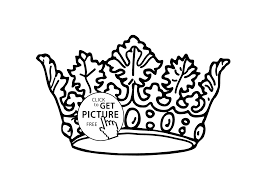 nice crown coloring page for girls printable free coloing 4kids com