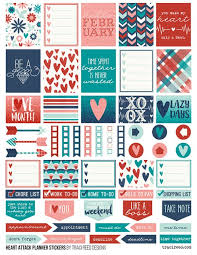 Erin Condren Life Planner Free Printable Stickers | free printable heart attack planner stickers by traci reed