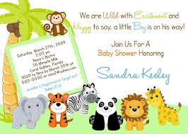safari baby shower invitations free template invitations