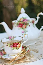 country roses tea set country tea party