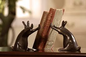 rabbit bookends 31 amusing bookend designs inspirationfeed