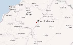 lebanon on the map mount lebanon mountain information