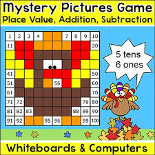 thanksgiving math mystery pictures interactive smartboard