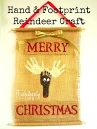 hand and footprint reindeer christmas craft