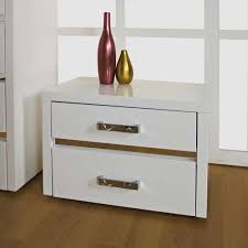 alessia high gloss mdf bedside drawers ahoc ltd