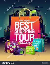 best shopping tour vector poster stock vector 601740857