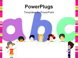 powerpoint template displaying kids education sequence